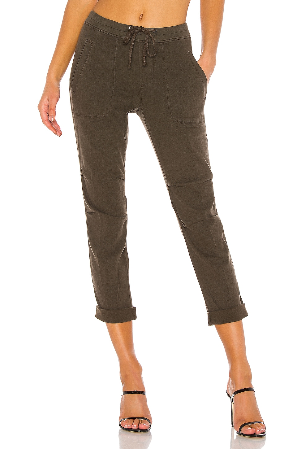 James Perse Super Soft Twill Pant in Smoky Green
