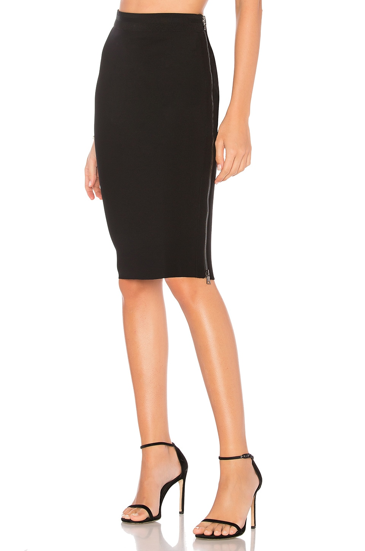 James Perse Side Zip Skirt in Black