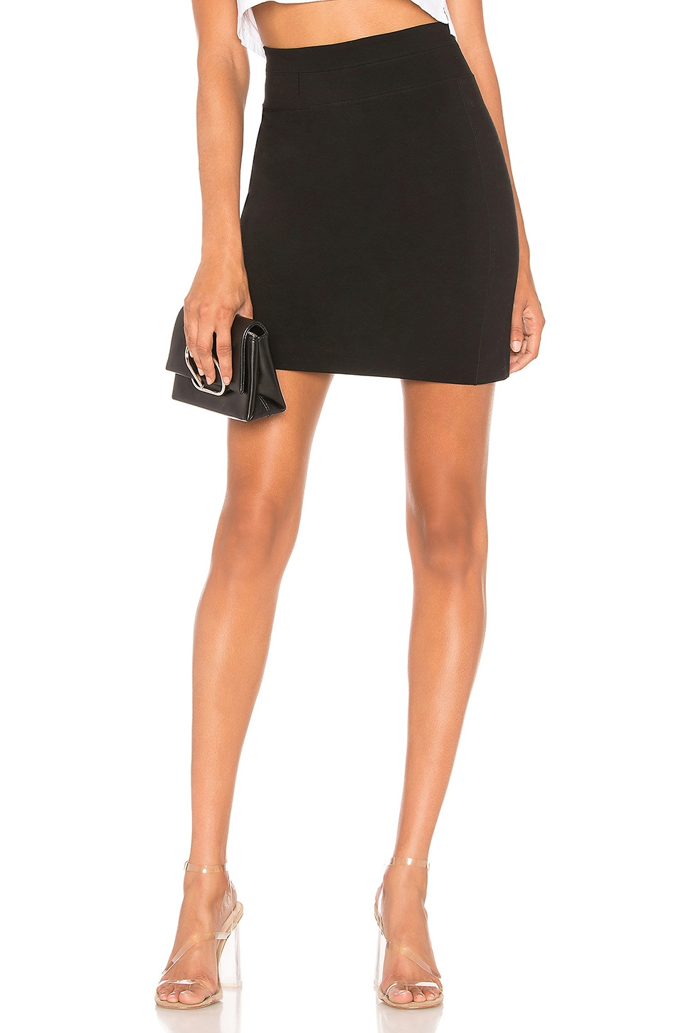 Zip Back Panel Skirt, Black