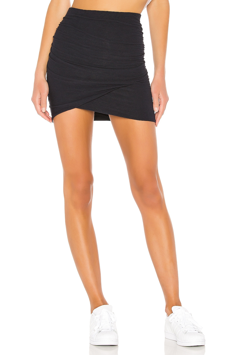 James Perse Wrap Mini Skirt in French Navy