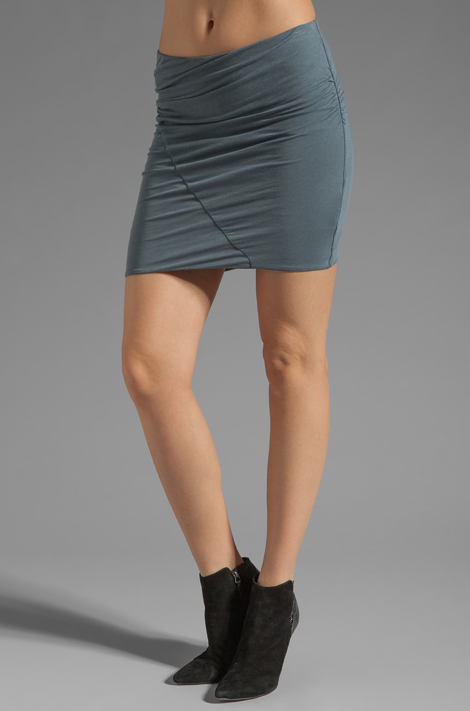 James Perse Asymmetrical Tuck Skirt in Tempest