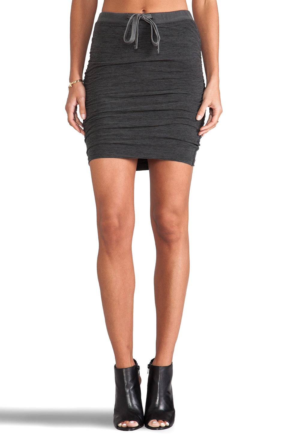 James Perse Drawstring Skirt in Charcoal