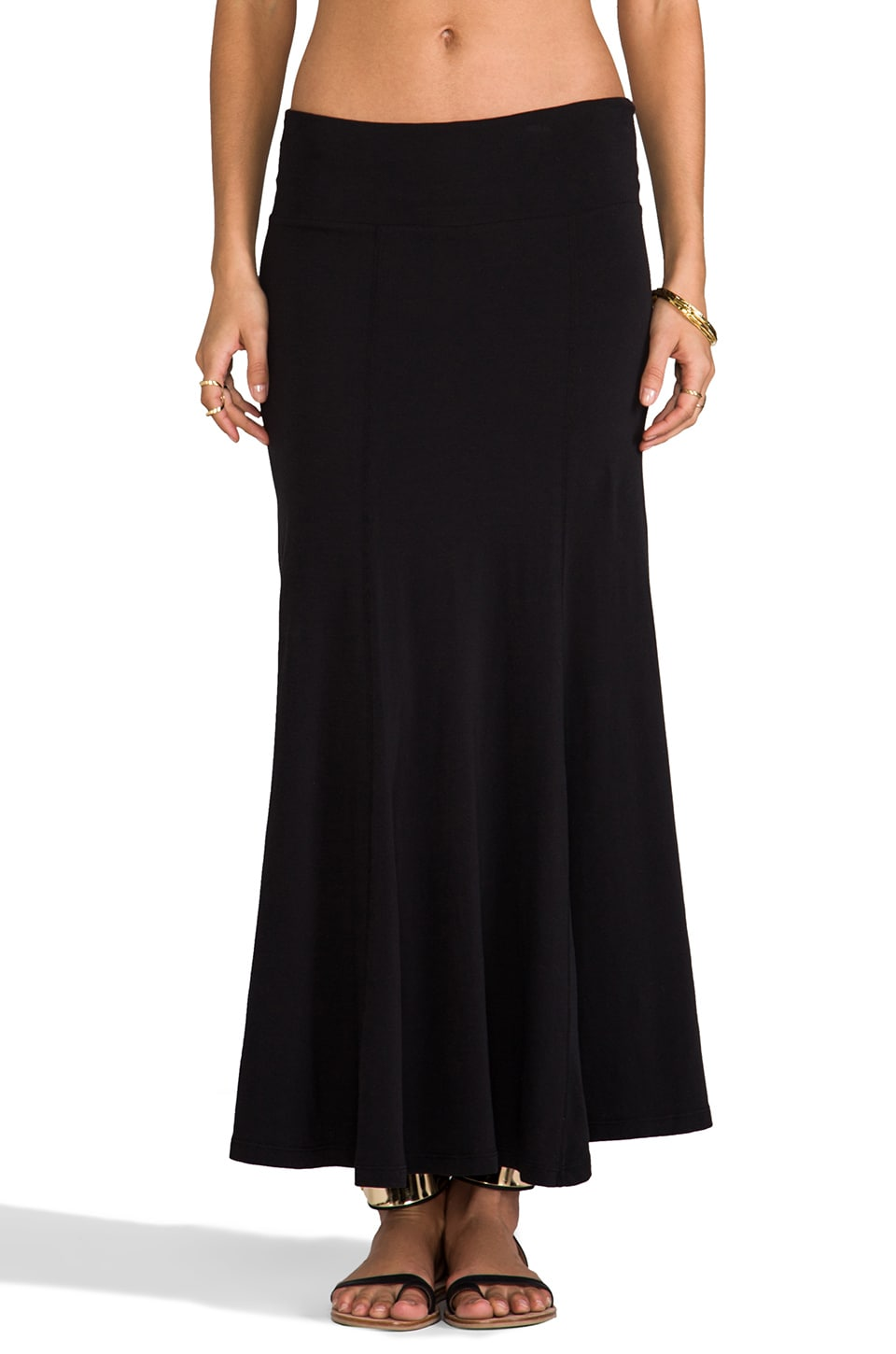James Perse Maxi Flare Skirt in Black