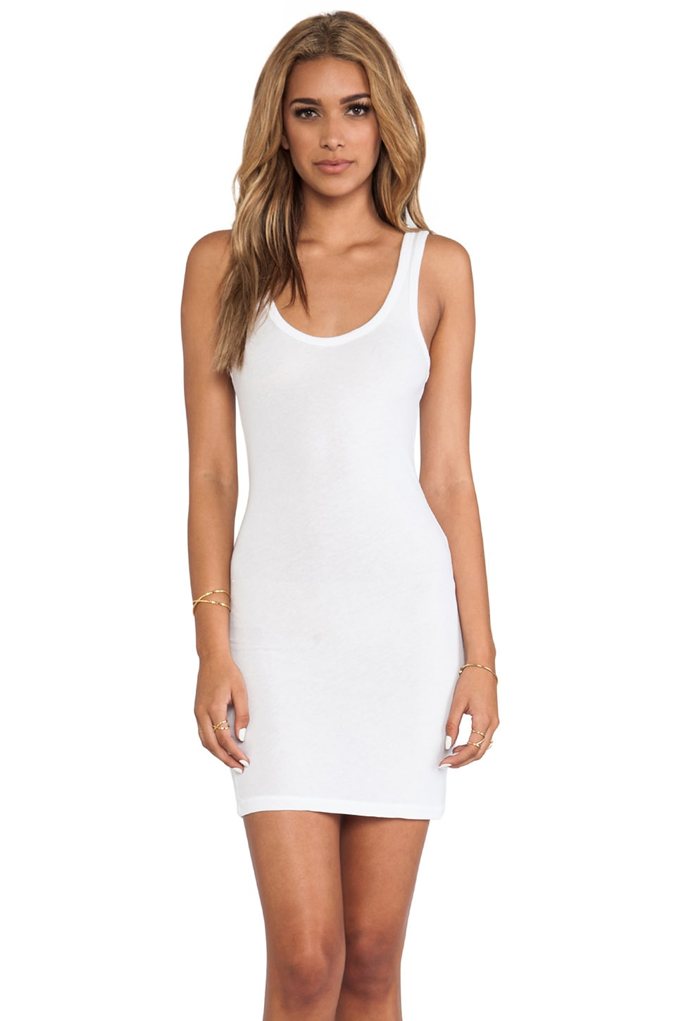 James Perse Tunic Tank in White