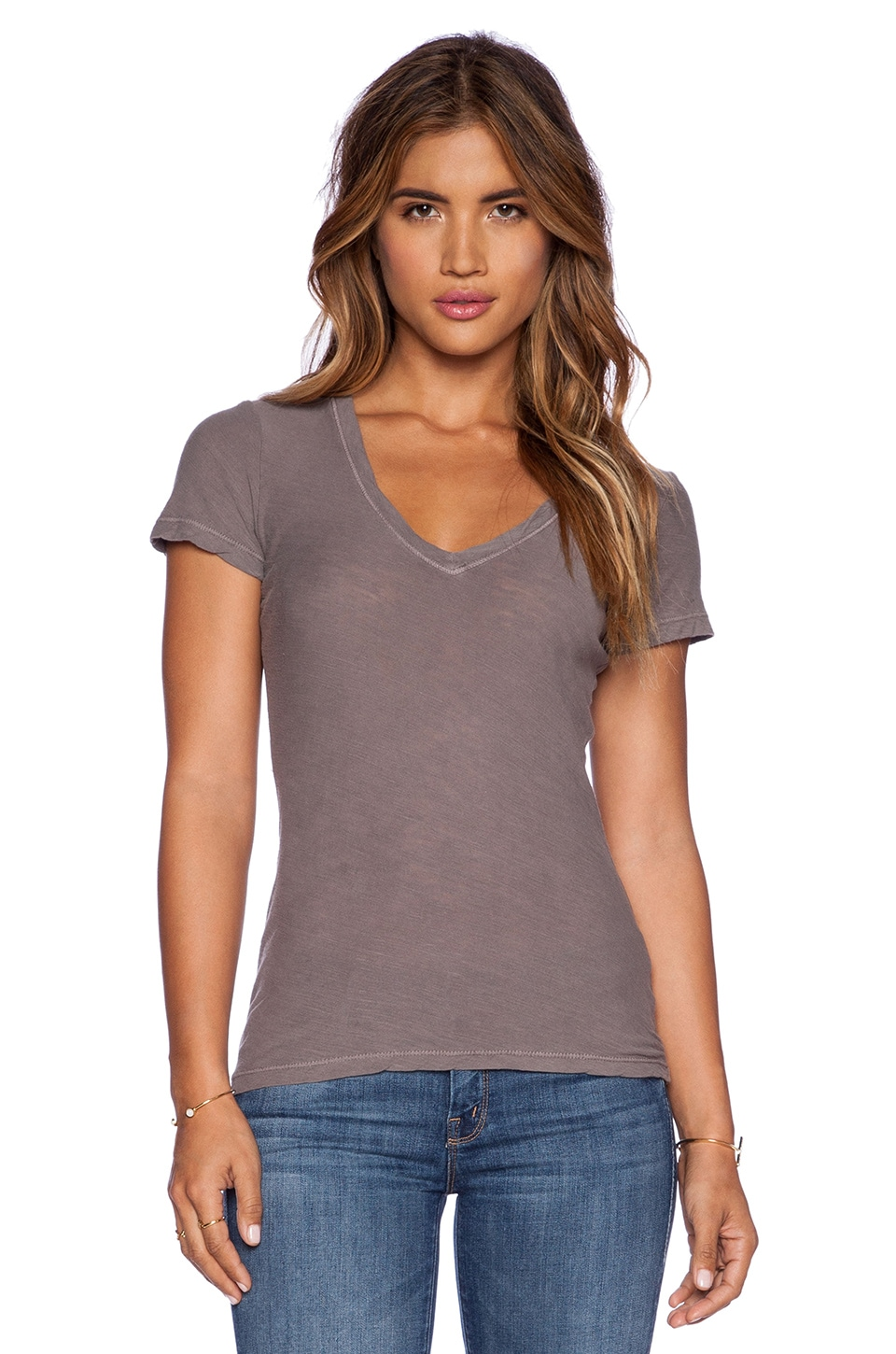 James Perse Casual Tee in Burro