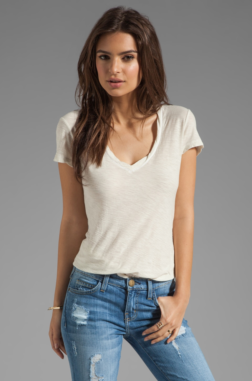 James Perse Casual Tee in Stone