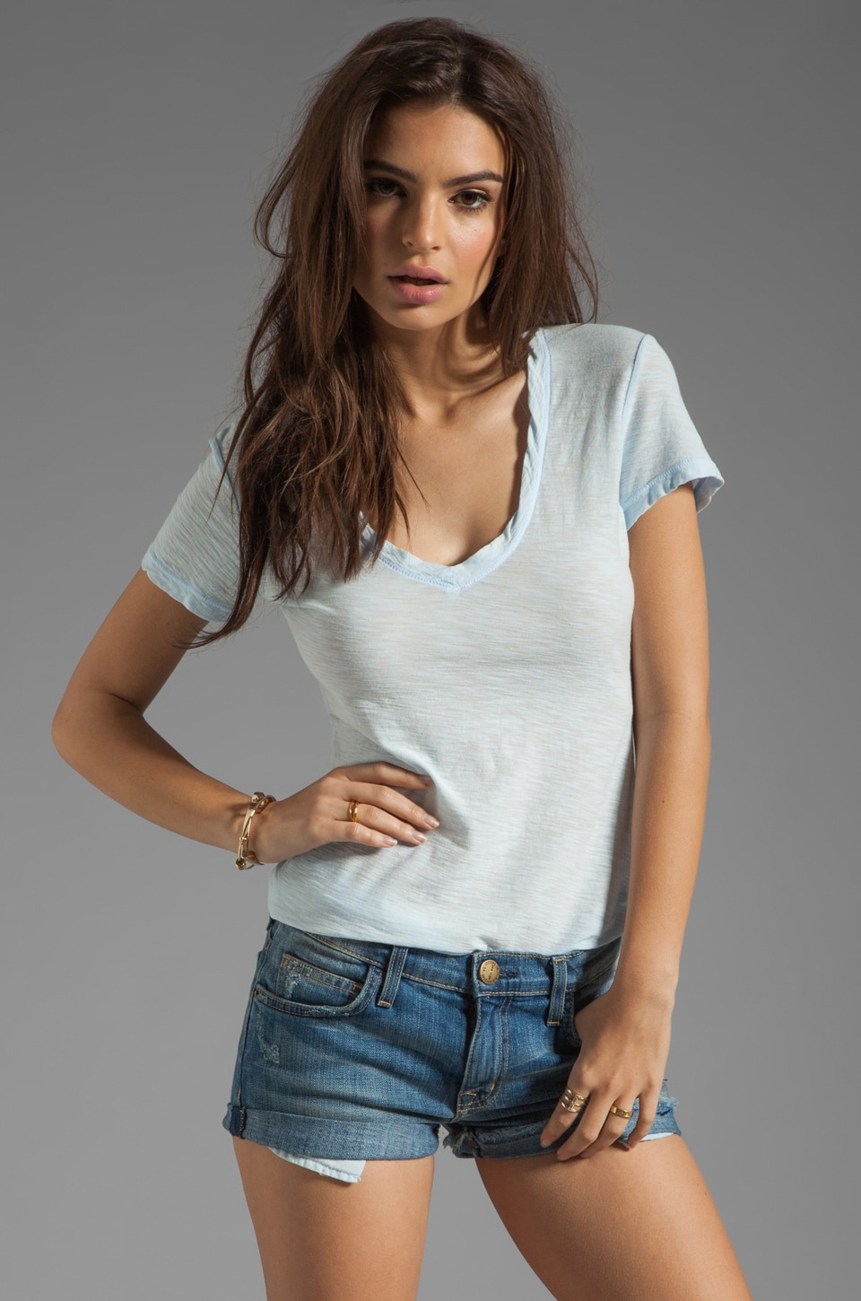James Perse Casual Tee in Powder Blue