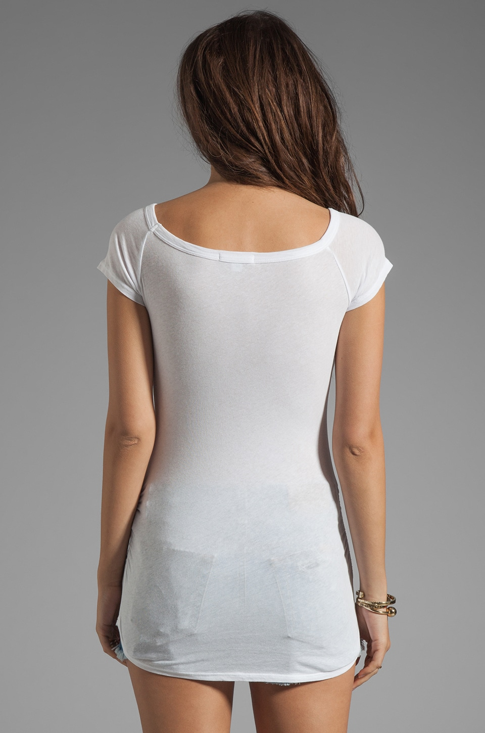 James Perse Bare Shoulder T in White