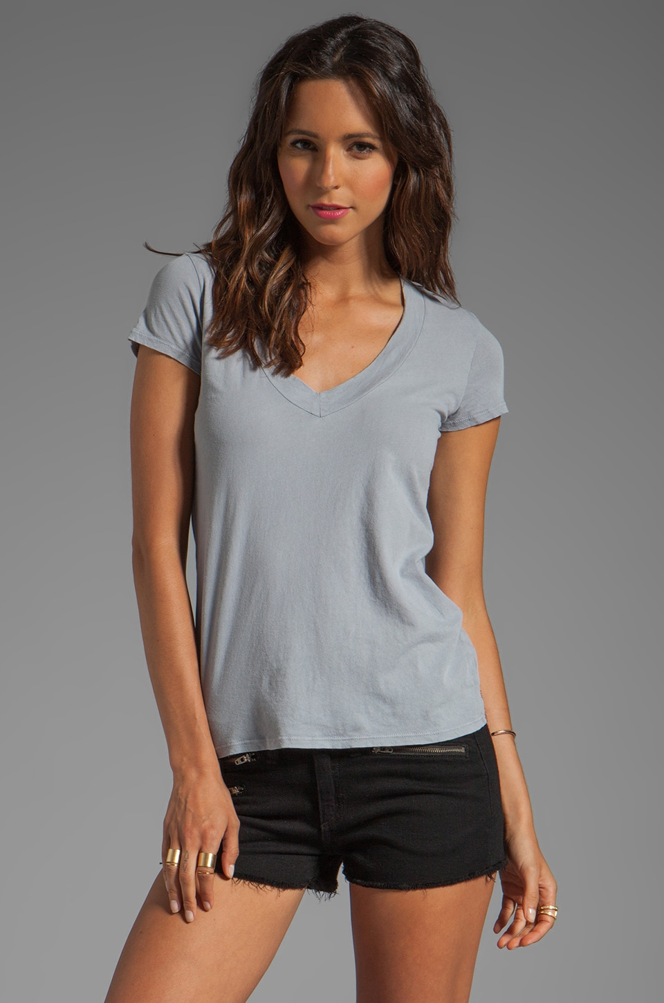 James Perse Relaxed Casual Tee in Ore