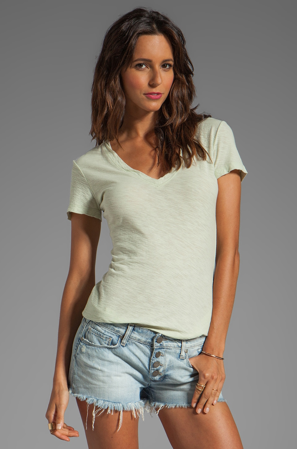 James Perse Casual Tee in Stem