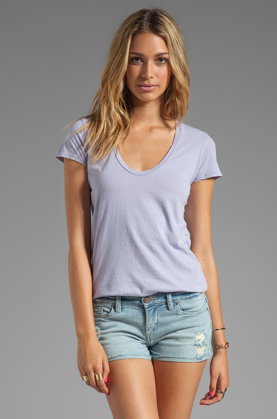 James Perse Relaxed Casual Tee in Parfait