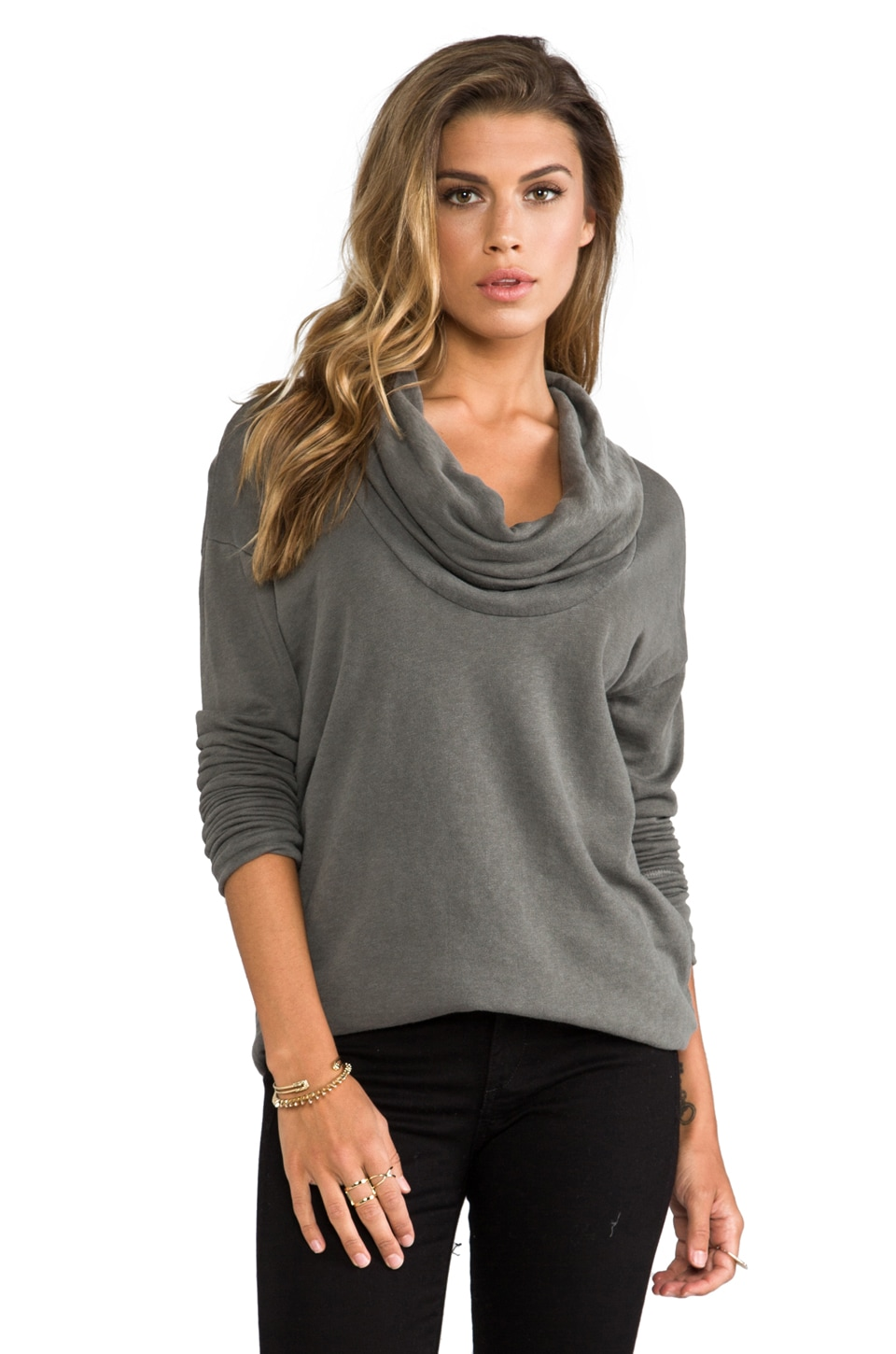 James Perse Oversize Cowl Tunic in Spruce