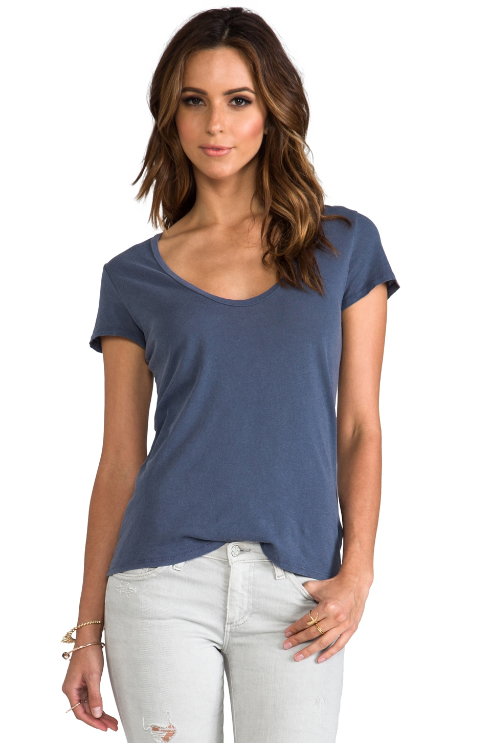 James Perse Relaxed Casual Scoop Neck in Marine