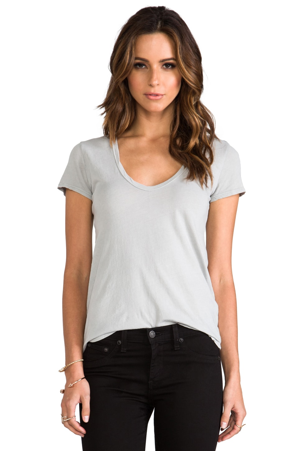 James Perse Relaxed Casual Scoop in Steel Grey