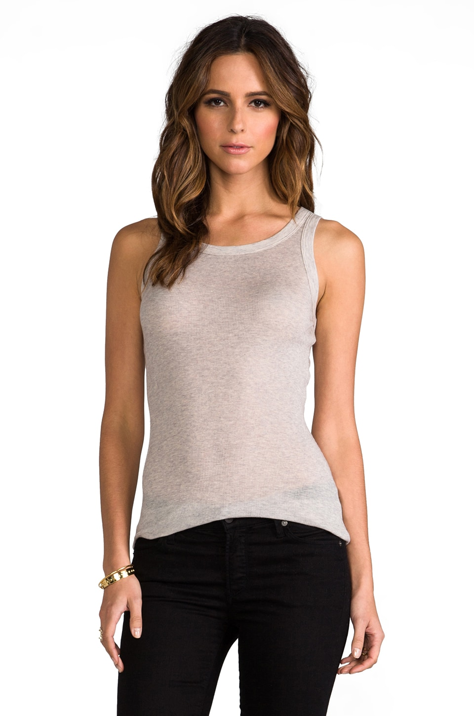 James Perse Cashmere Rib Tank in Marble