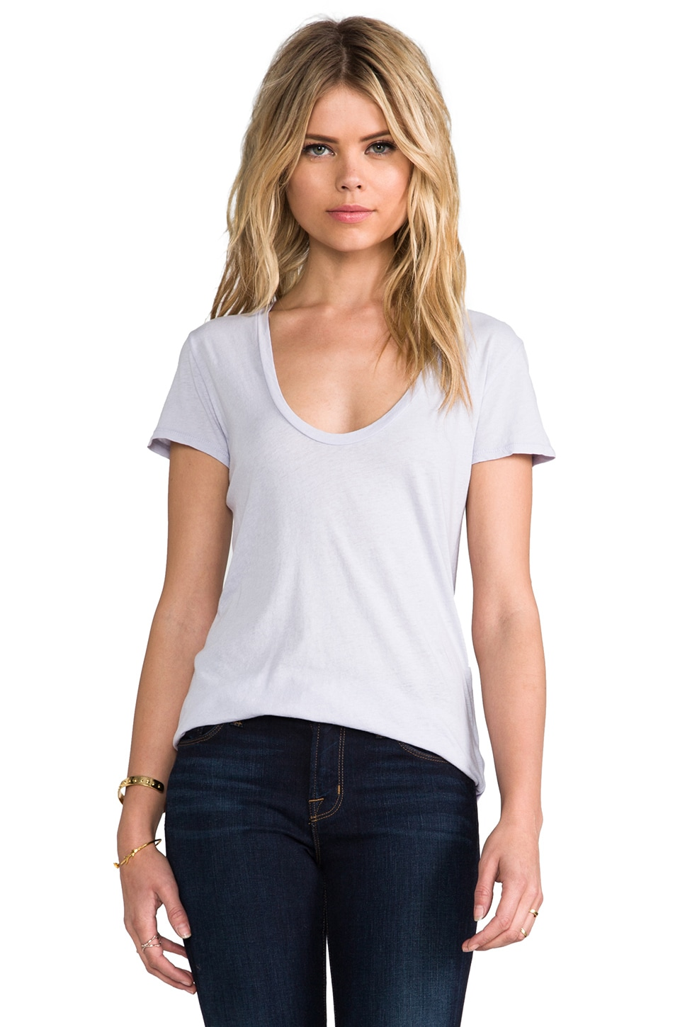 James Perse Relaxed Casual Tee in Close