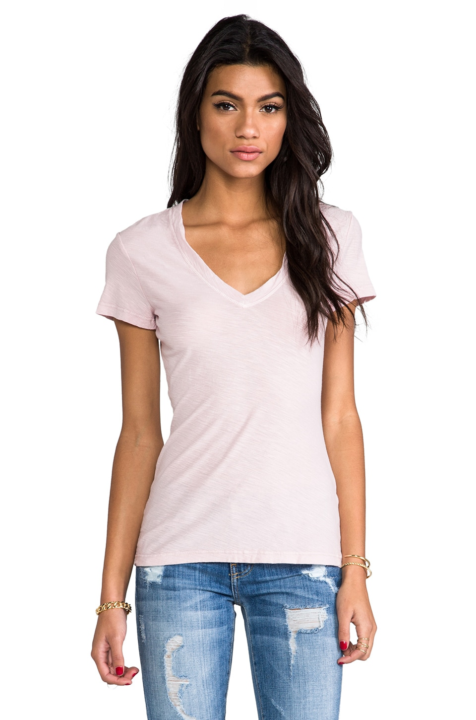 James Perse Casual Tee in Degas