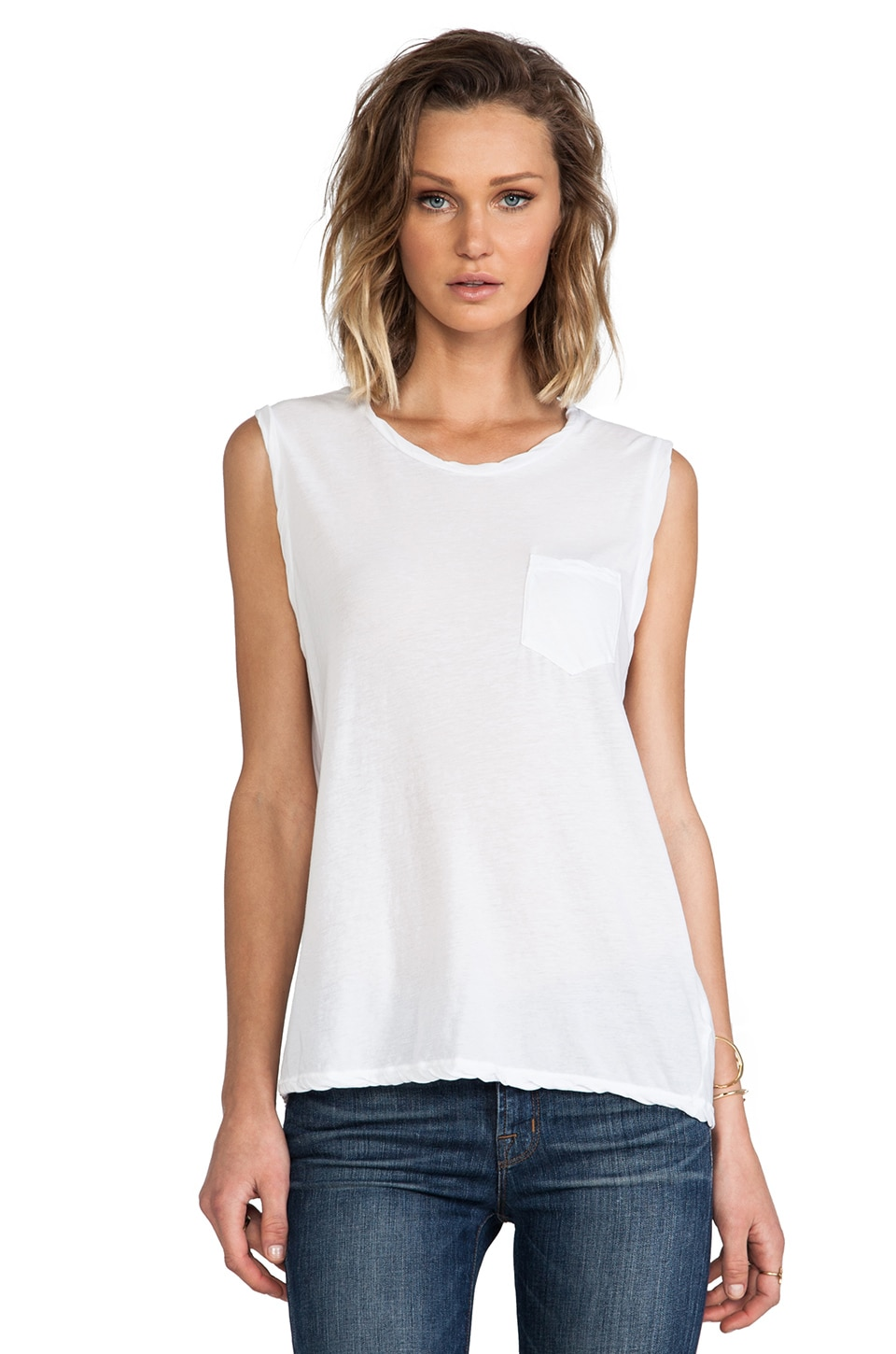James Perse Shell Tank in White
