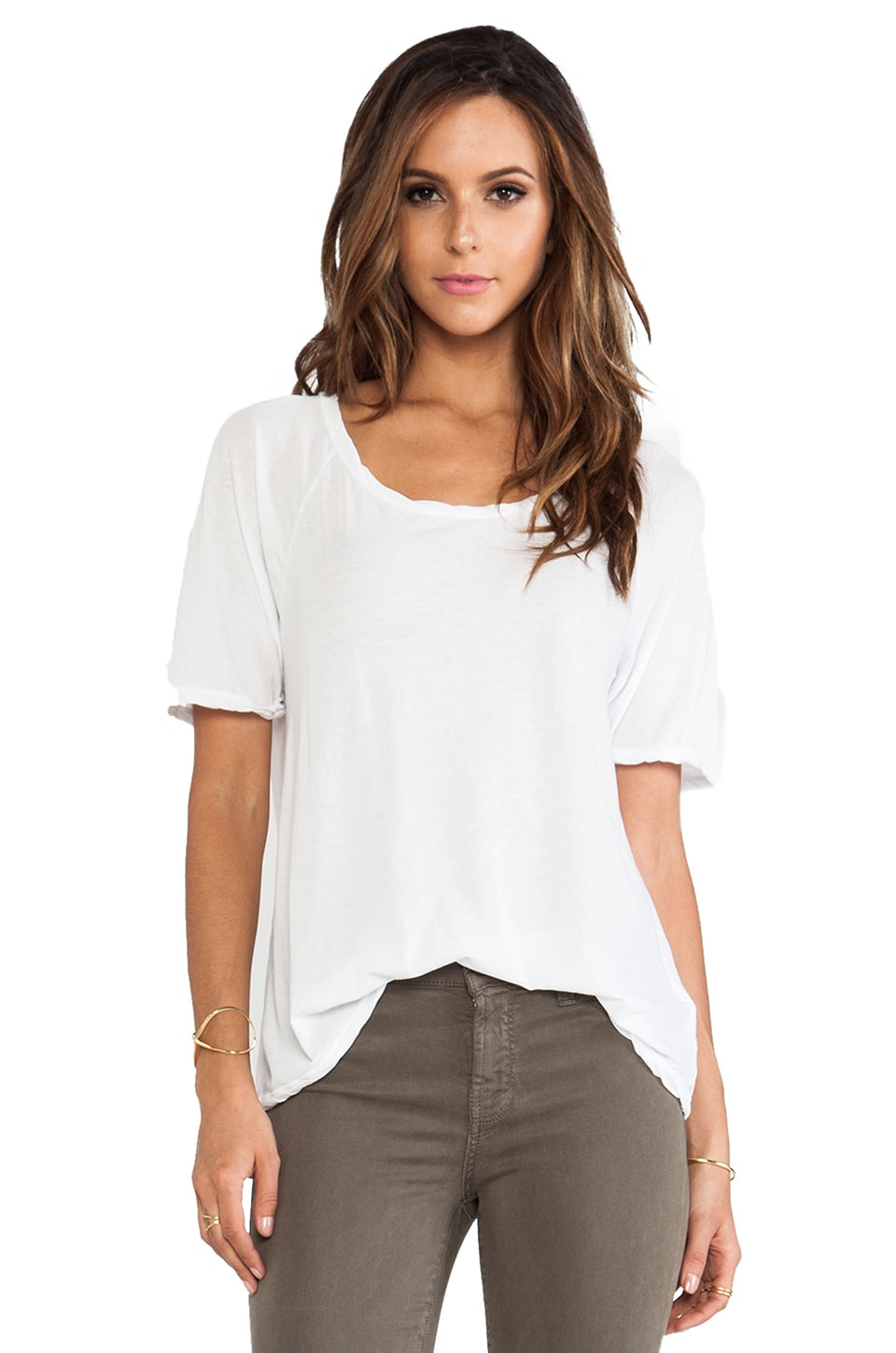 James Perse Jersey Boyfriend Tee in White