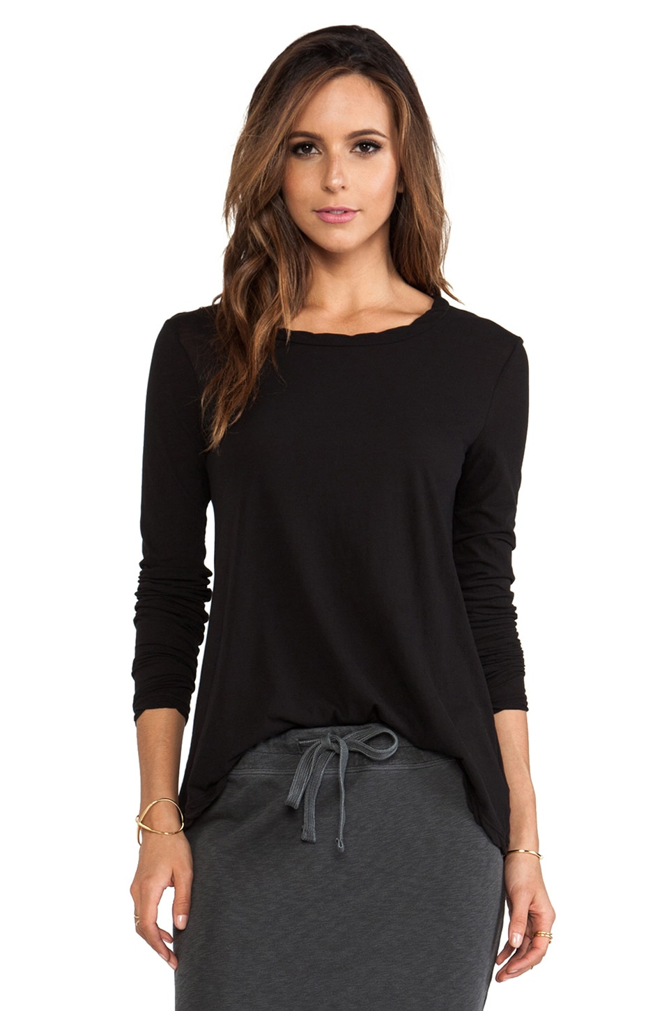 James Perse A- Line Tee in Black