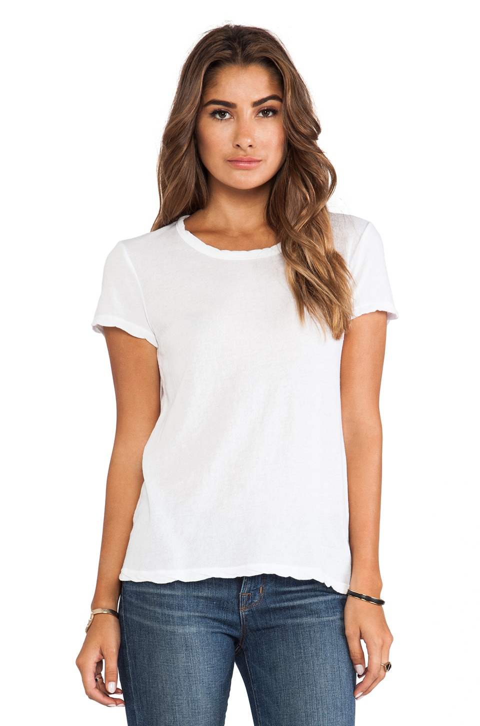 James Perse Crepe Jersey Little Boy Tee in White
