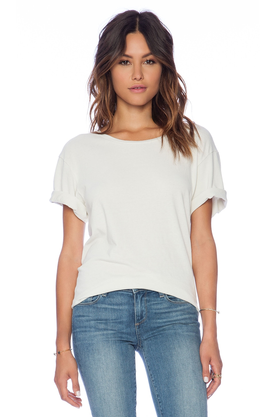 James Perse Oversize Heavy Tee in Tusk