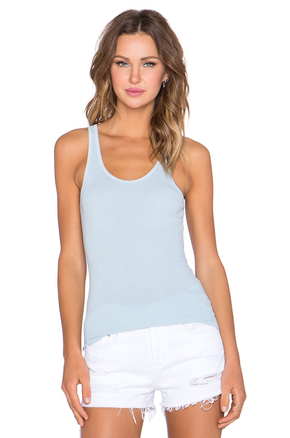 James Perse The Daily Racer Tank in Capri