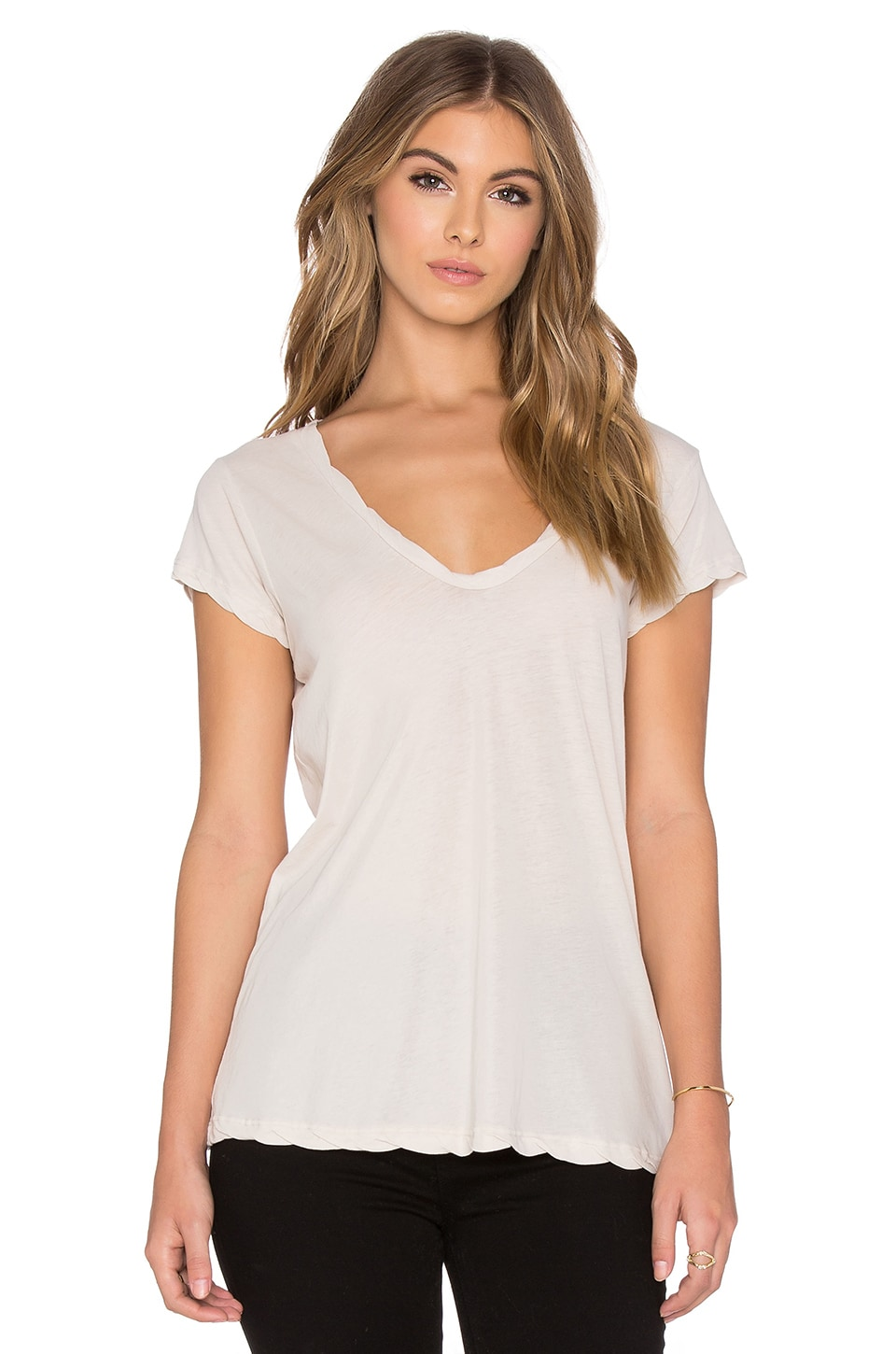 best sneakers 2328d 6f683 James Perse High Gauge Jersey Deep V Tee in Bergamont from Revolve.com