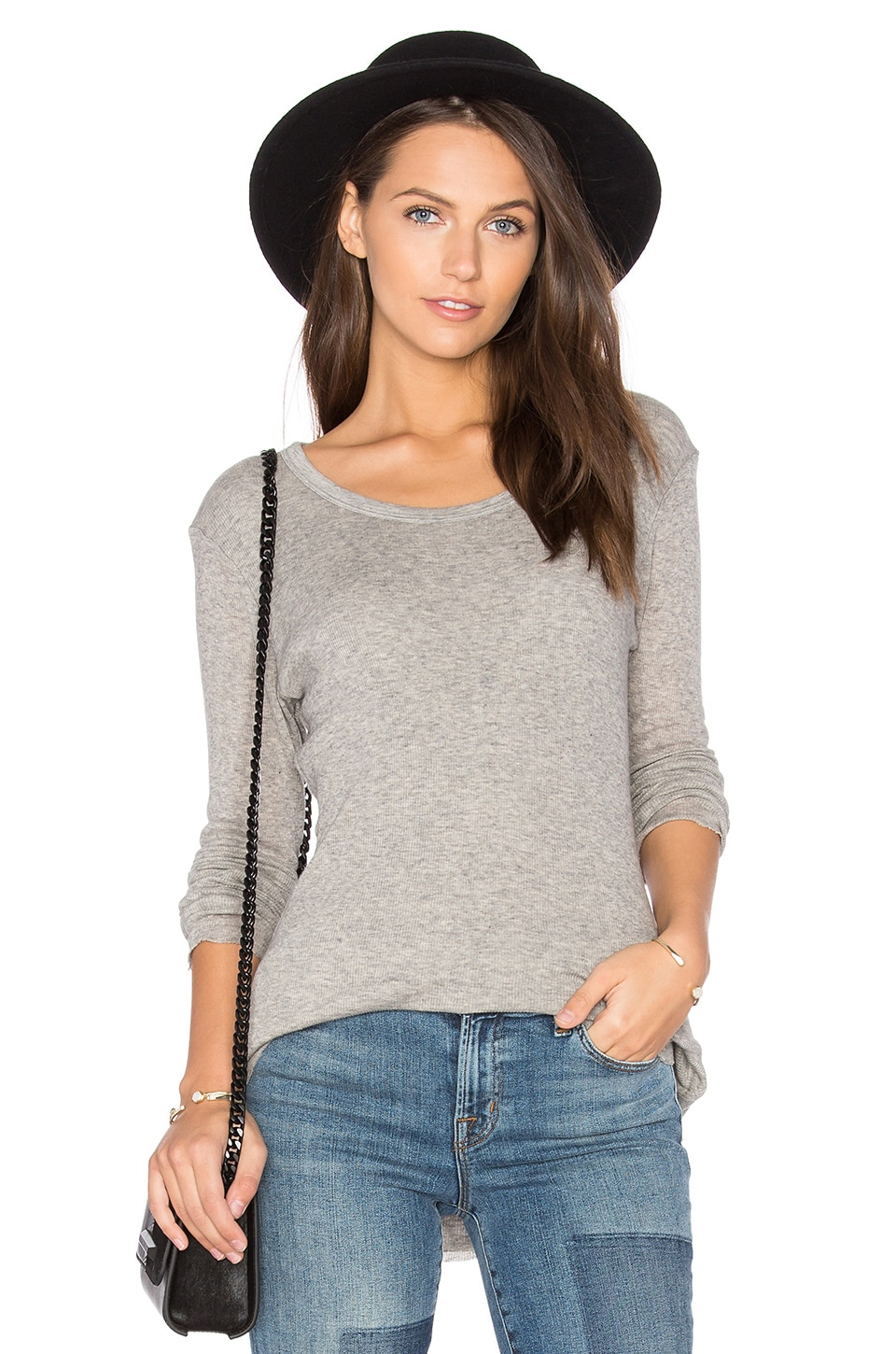 Cashmere Rib Tee by James Perse