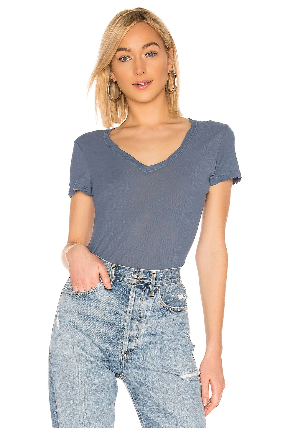 James Perse Casual Tee in Cornflower