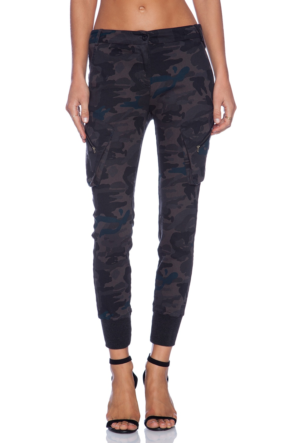 James Jeans Slouchy Fit Utility Cargo in Combat