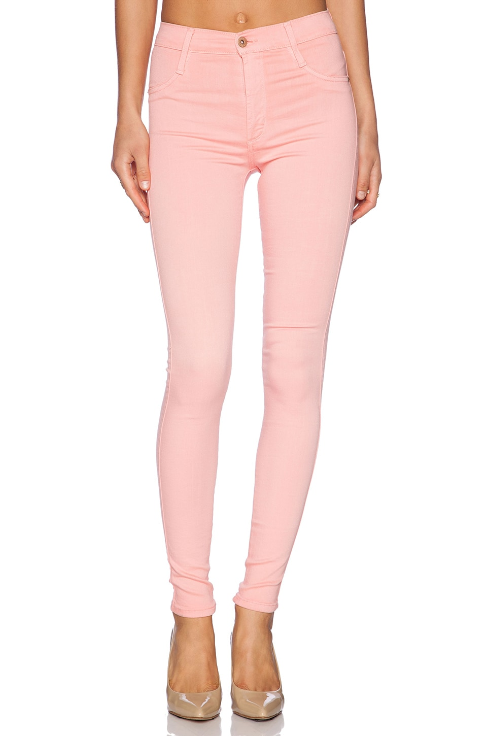 James Jeans High Class Skinny Ultra Flex HD Color Skinny in Pink Lemonade
