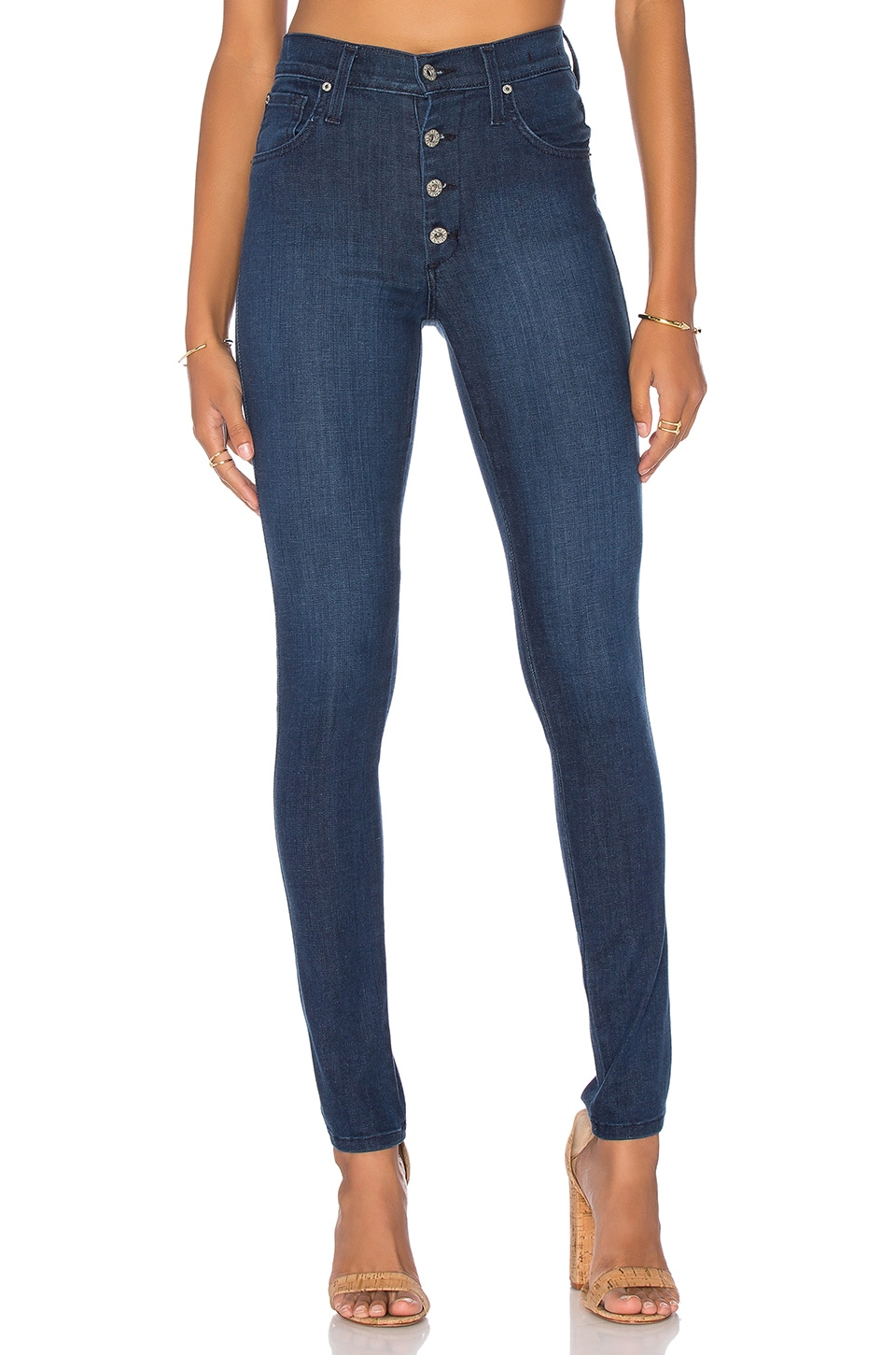 James Jeans High Class Button Fly Skinny in Barcelona