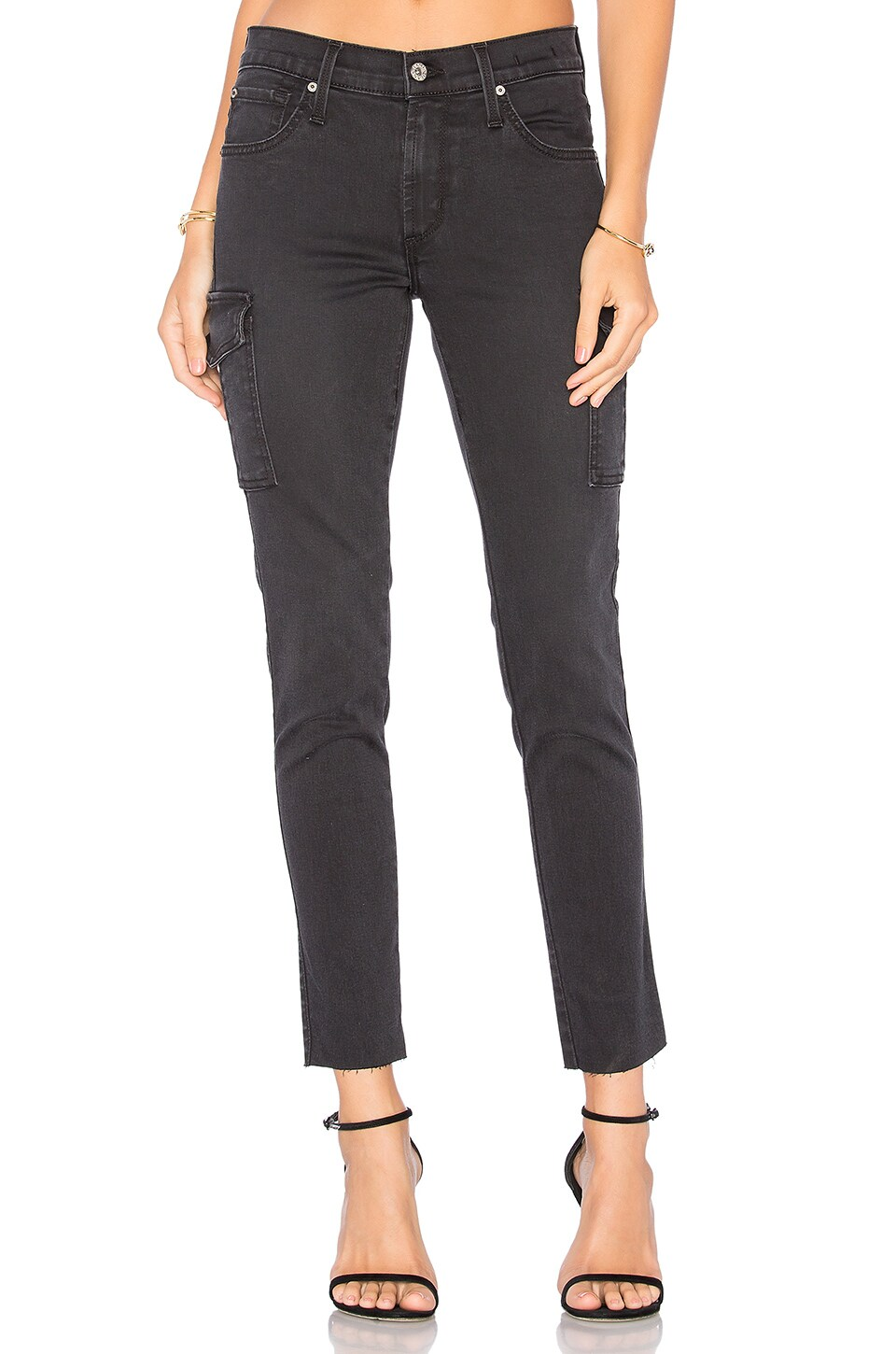 James Jeans Blacked Out Twiggy Ankle Cargo