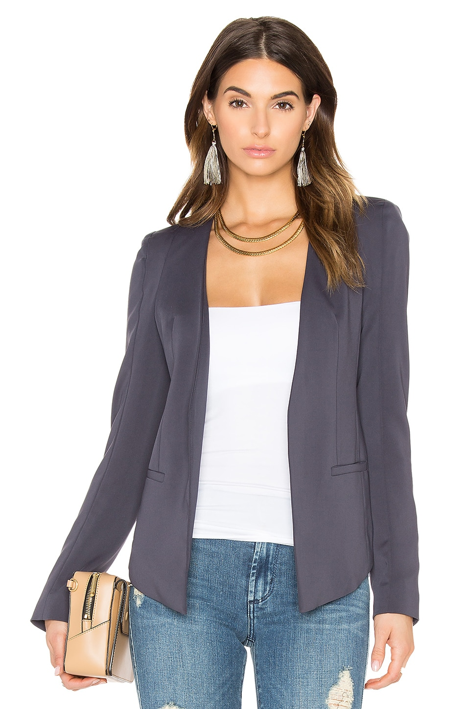James Jeans V Blazer in Charcoal Blue