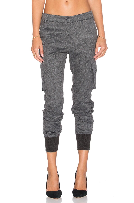 James Jeans Boyfriend Cargo in Charcoal Flannel