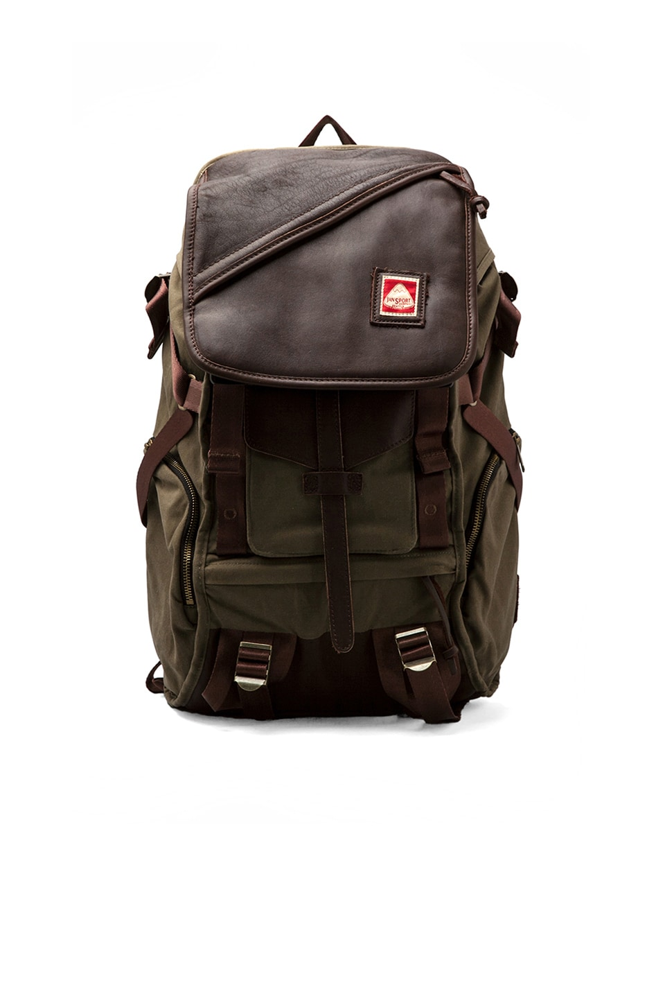 Jansport Skip Yowell Collection Pleasanton Backpack in Green Machine