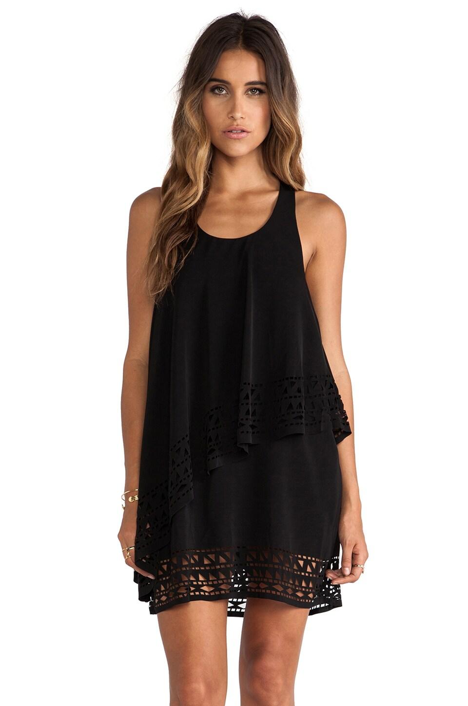 JARLO Chloe Mini Dress in Black