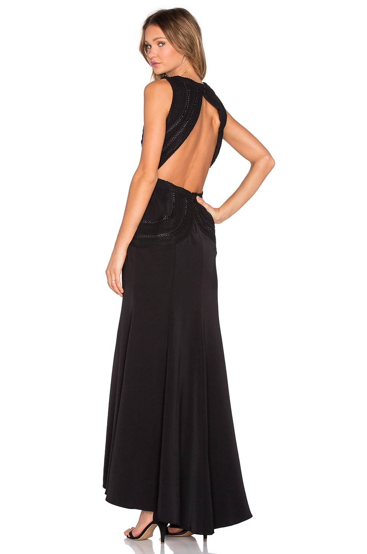 JARLO Bianca Gown in Black