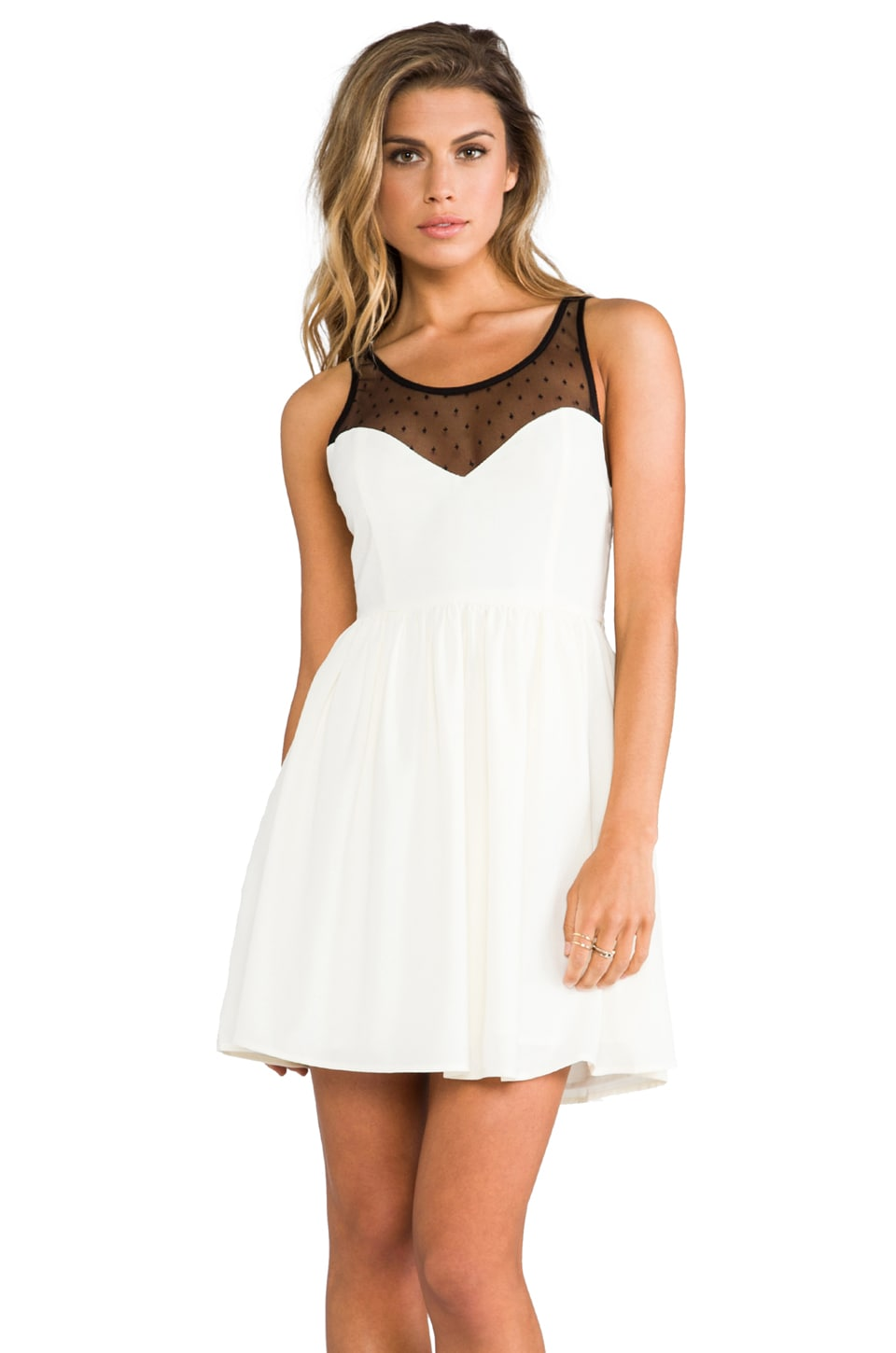 JARLO Lucie Party Dress in Cream