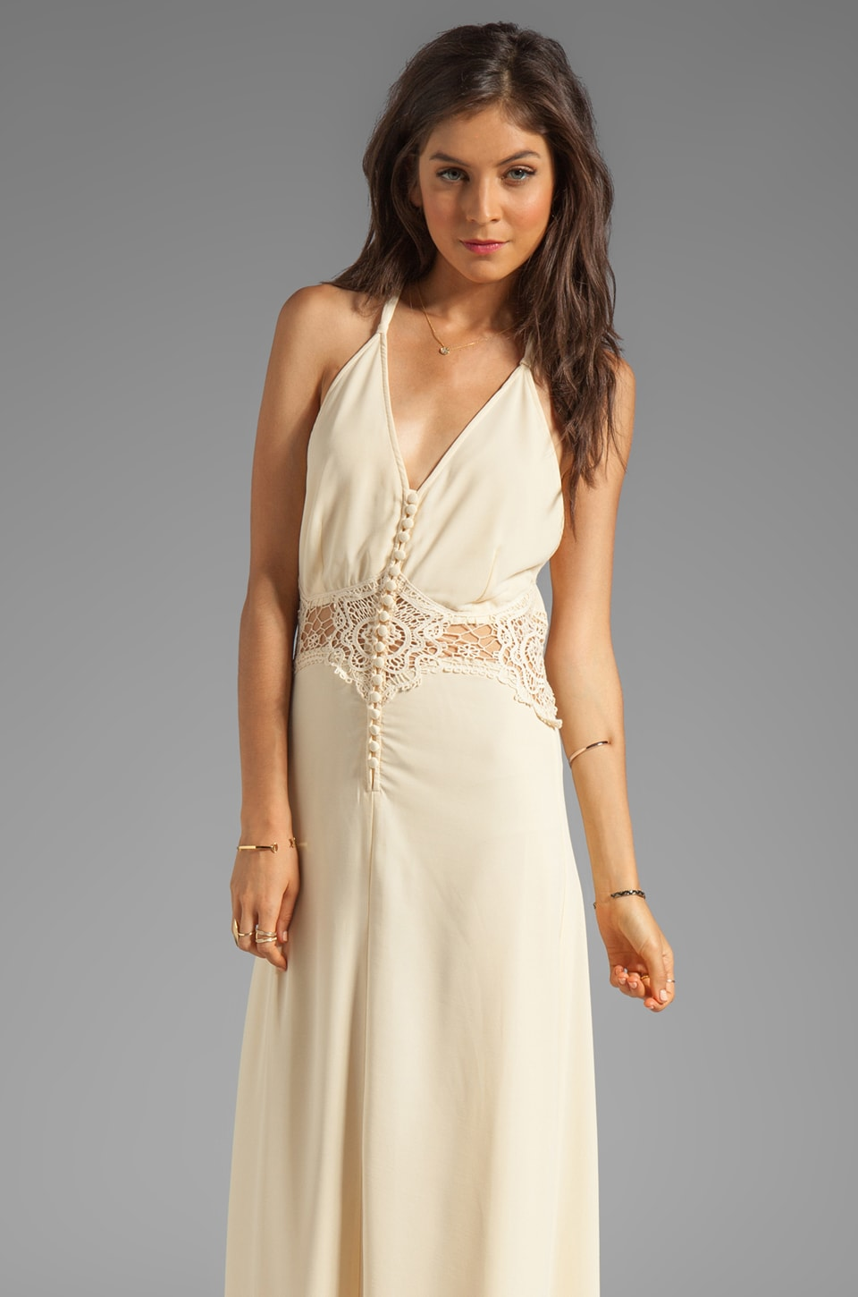 JARLO Siobhan Maxi Dress in Ivory