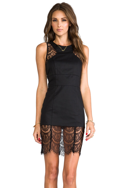 JARLO Ella Lace Tank Dress in Black