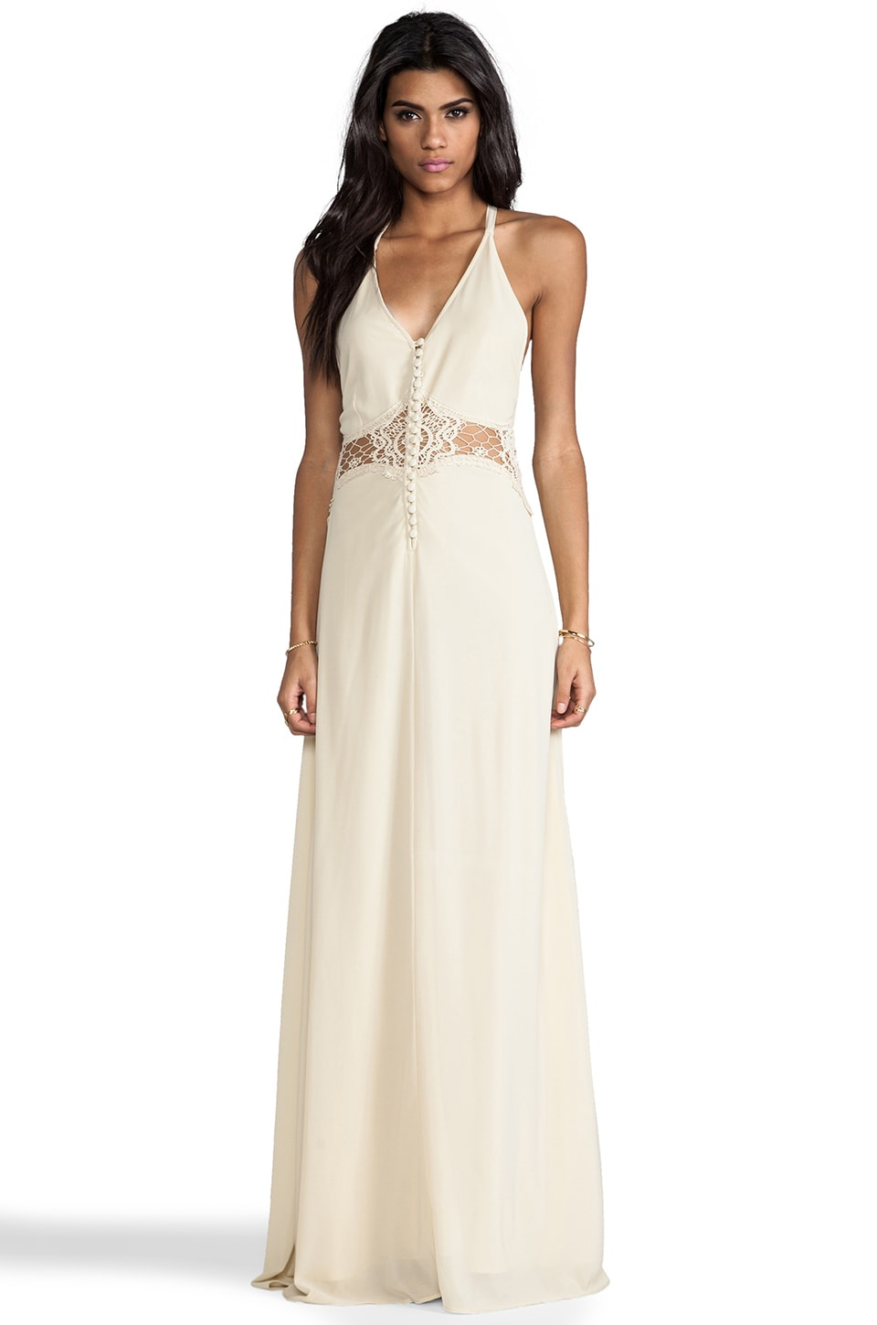 JARLO Siobahn Maxi Dress in Cream
