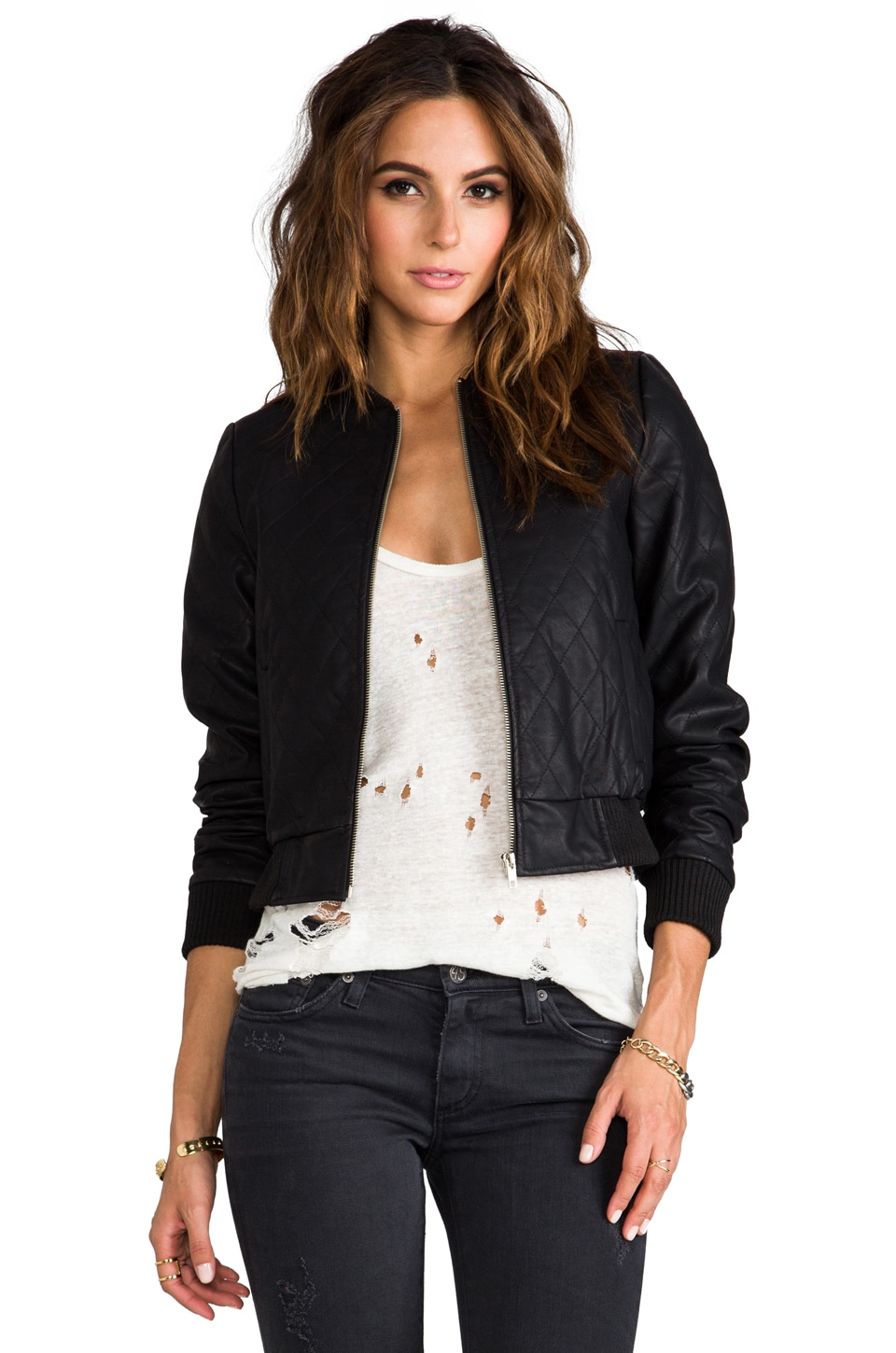 JARLO Charlise Moto Jacket in Black