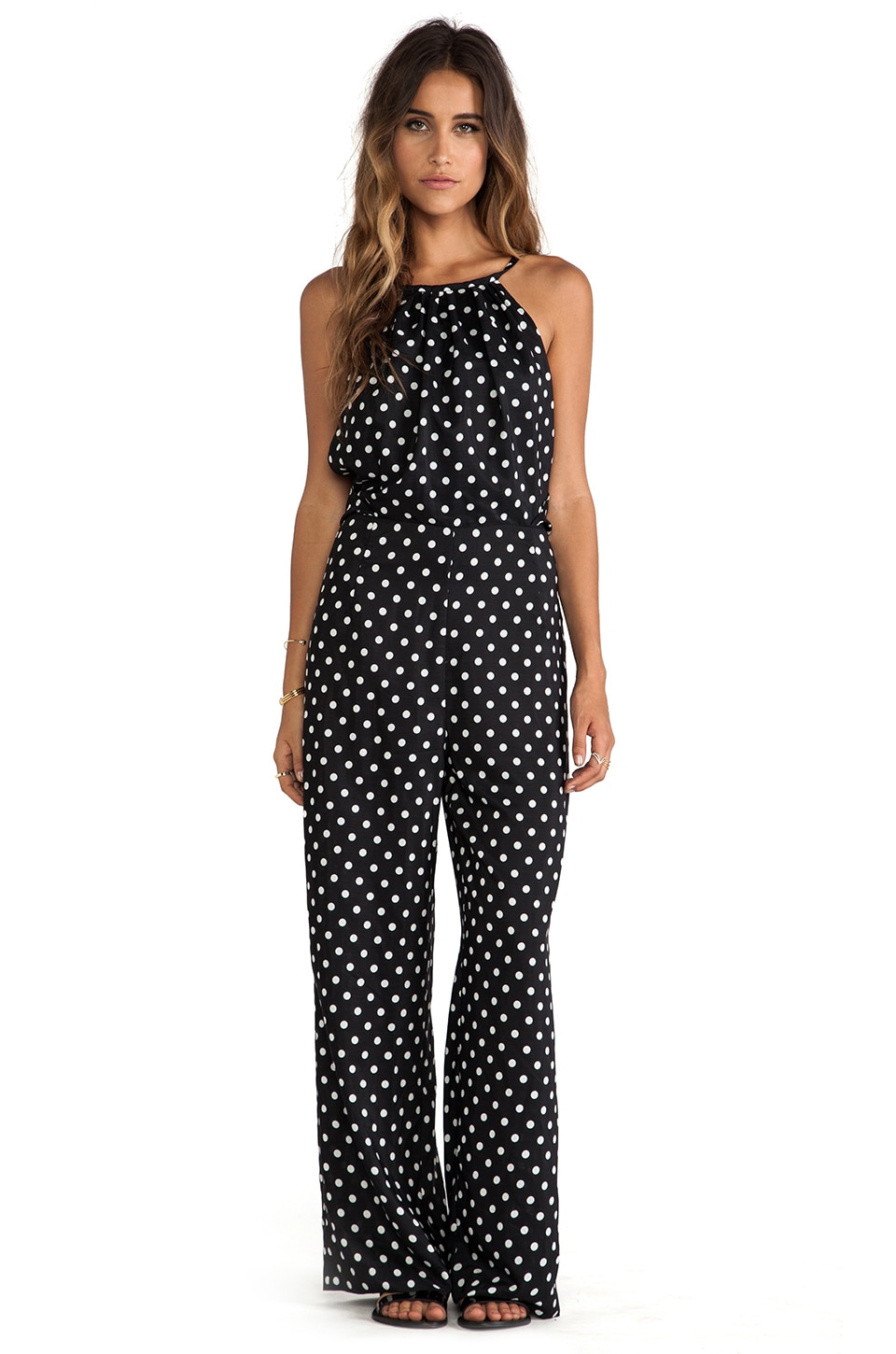 JARLO Queenie Jumpsuit in Polka Dot