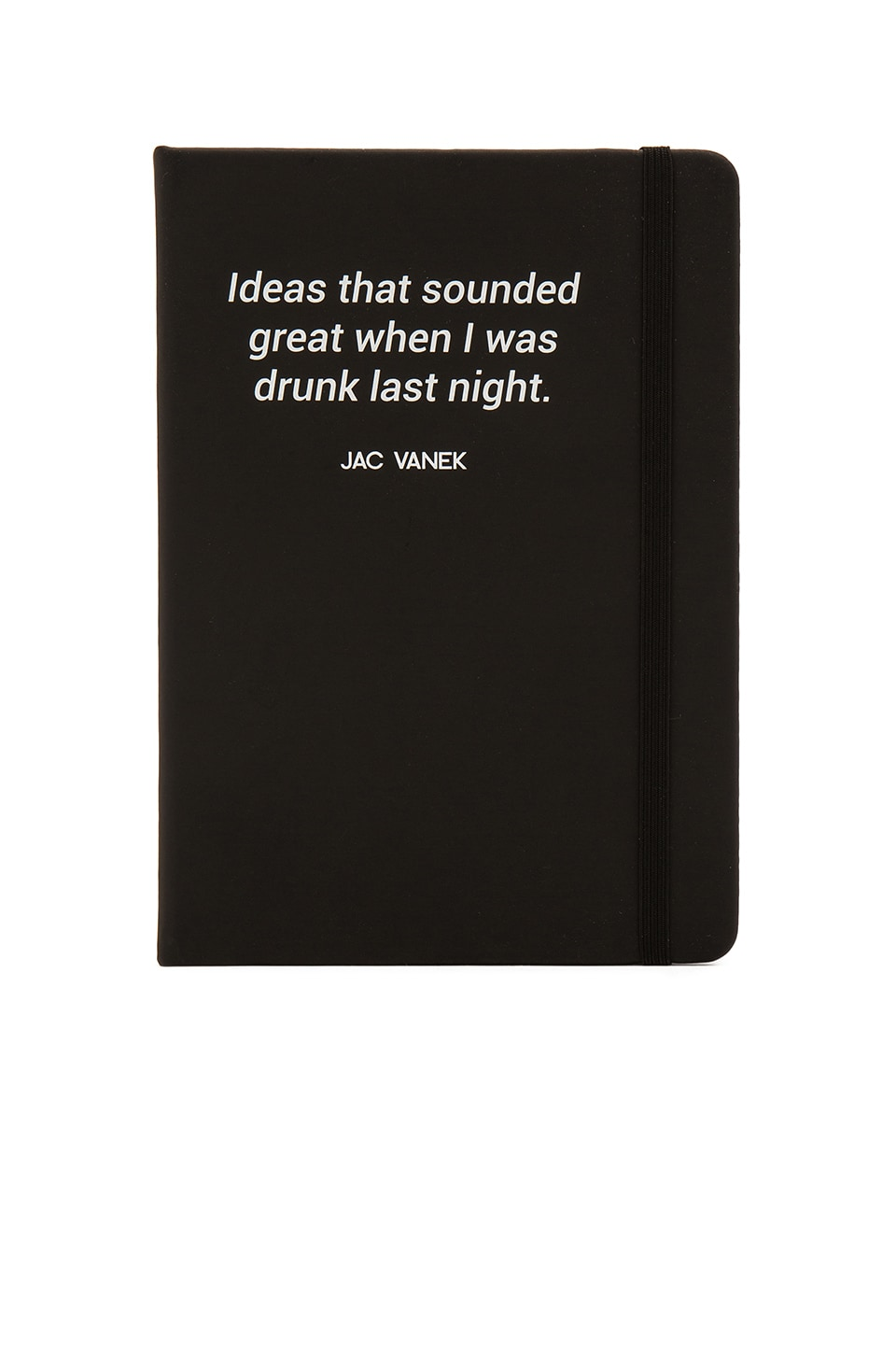 JAC VANEK Drunk Ideas Notebook in Black