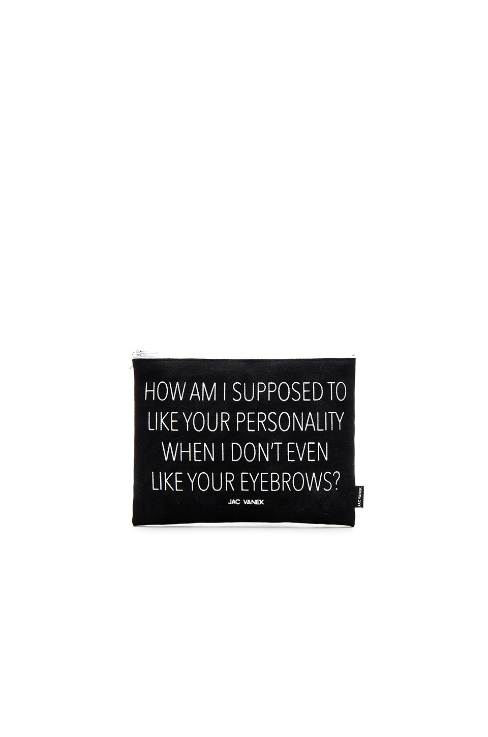 JAC VANEK Personality Pouch in Black Canvas