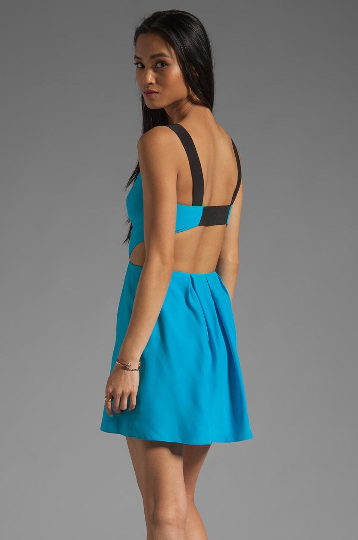 Jay Godfrey Vance Cut Out Dress in Brilliant Blue/Black