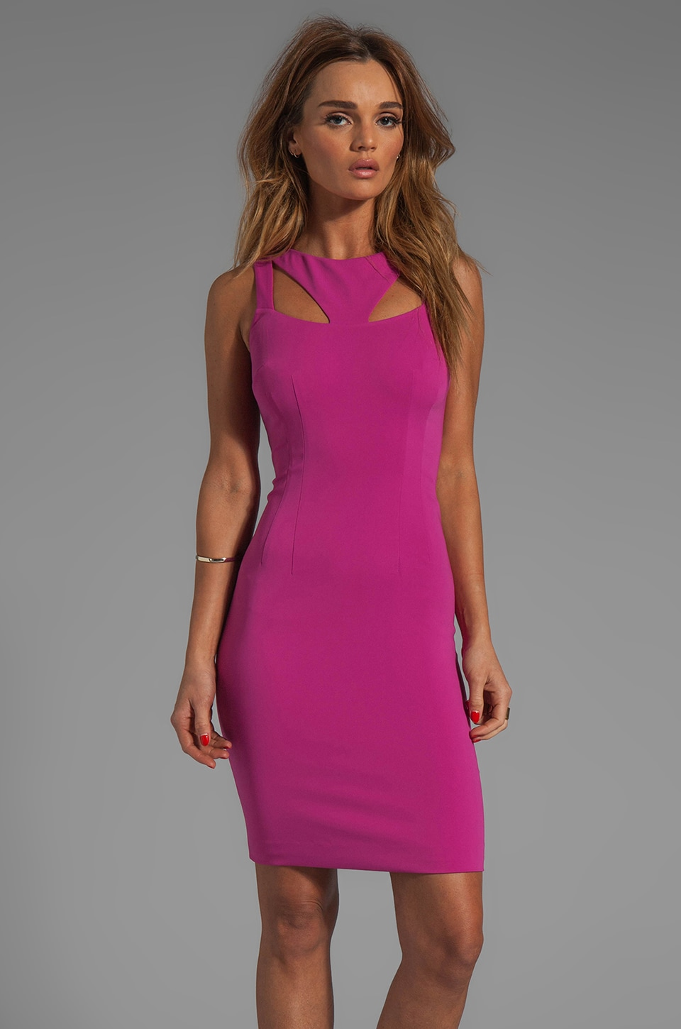Jay Godfrey Sahar Dress in Magenta
