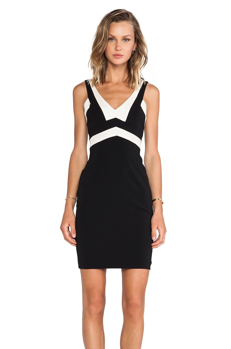 Jay Godfrey Bentley Dress in Black/Soft Pink